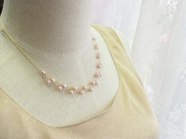 *Tiny Lace*14kgfネックレスの画像1枚目