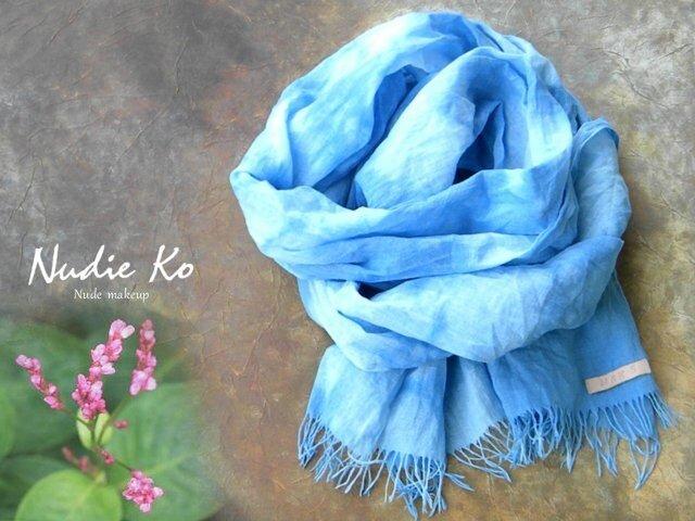 草木染ストール 藍-ai-  雲の画像1枚目