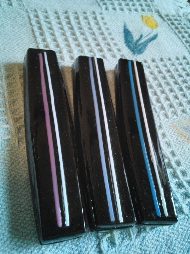 カトラリーレスト3こ(black)pale lineの画像1枚目