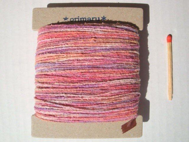 桃&紫色グラデーション糸の画像1枚目