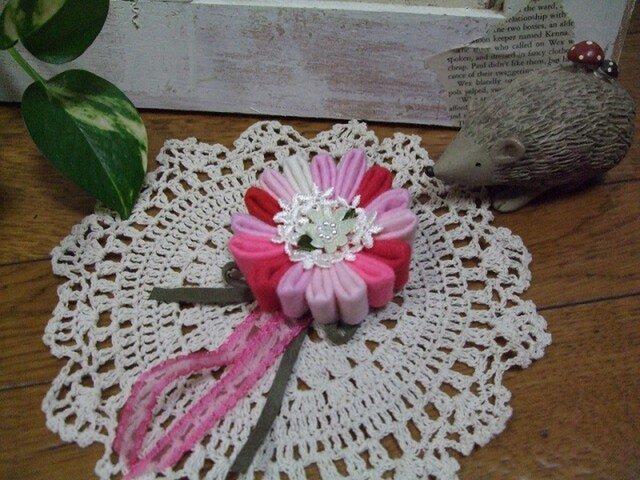 *お花のブローチ*sakura【送料無料】の画像1枚目