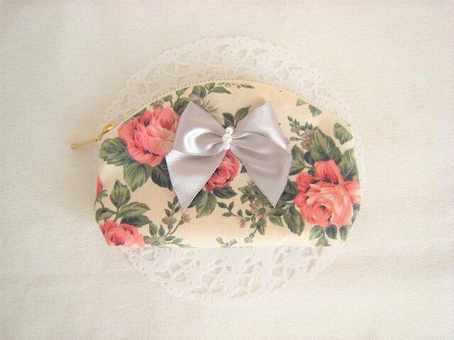 かわいいバラ模様のミニポーチの画像1枚目