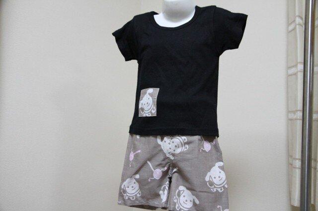 手ぬぐい ズボンとお揃いTシャツ(80サイズ)の画像1枚目
