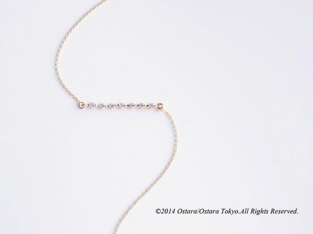 【14KGF】Bracelet,Cubic Zirconia Barの画像1枚目