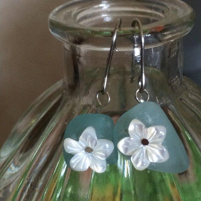 beachglass flower piercedの画像1枚目