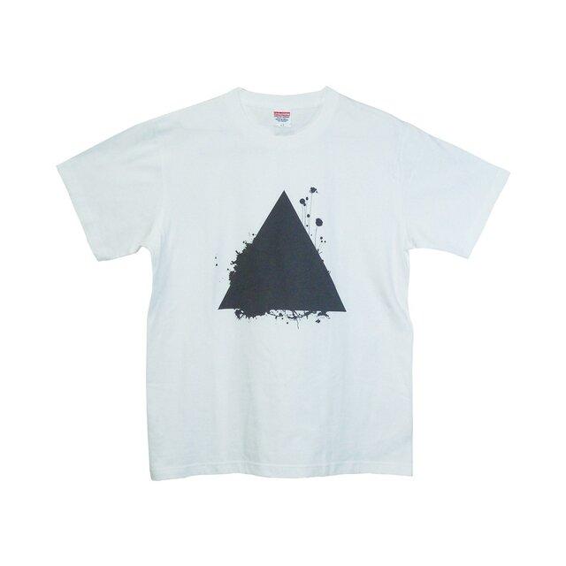 6.2oz Tシャツ white L サンカクの画像1枚目