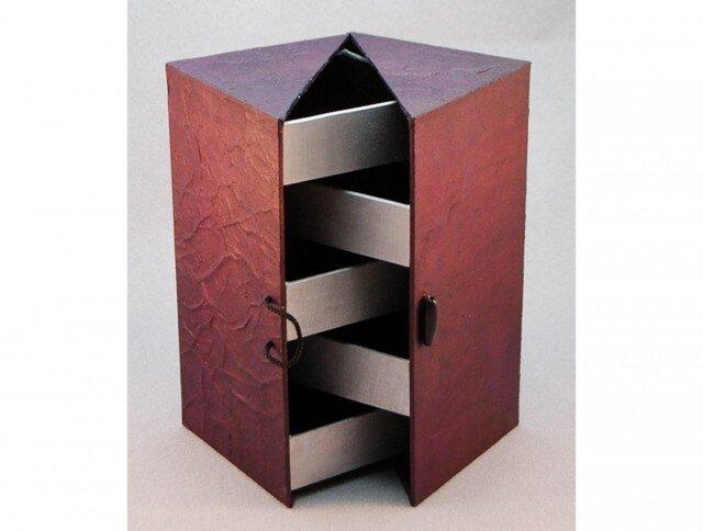 ジュエリーボックス(パープル&シルバー)の画像1枚目