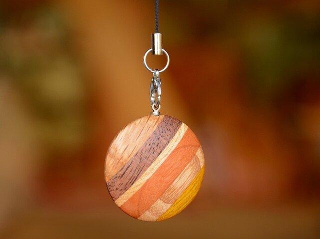 木のストラップ(ハイブリッド-Circle)の画像1枚目