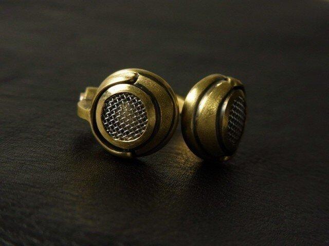 Headphone Ring - Brassの画像1枚目
