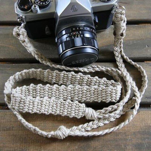 麻紐ヘンプカメラストラップA(2重リング)の画像1枚目