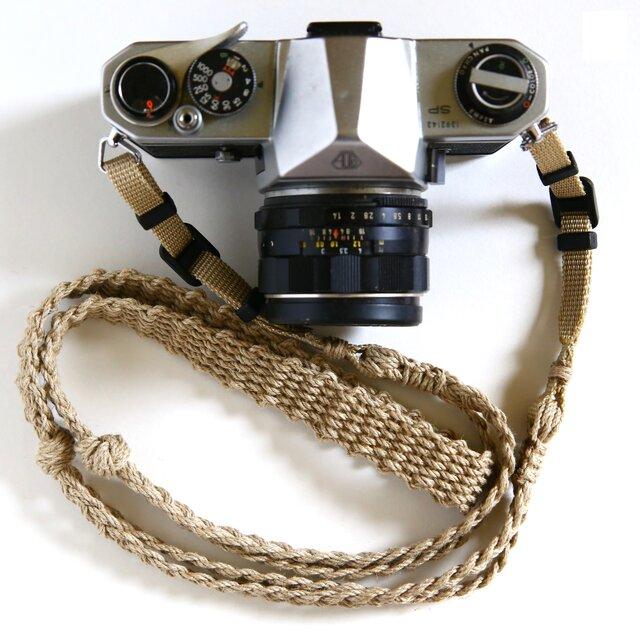 麻紐ヘンプカメラストラップA(ベルト)の画像1枚目