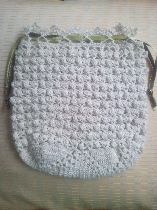 レース編み 巾着の画像1枚目