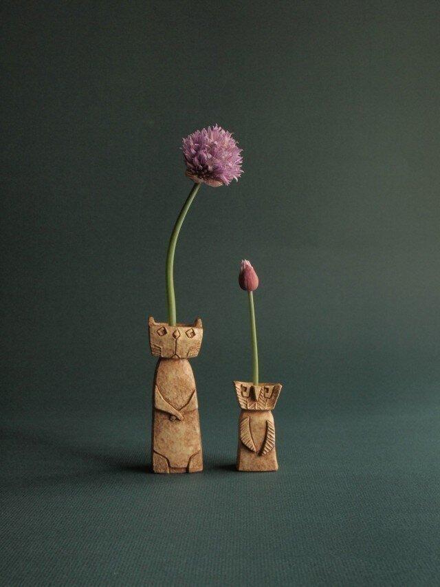 フクロウとネコの画像1枚目