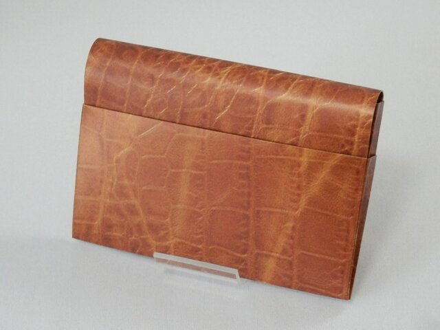Paper Cardcase「Alligater(brown)」の画像1枚目