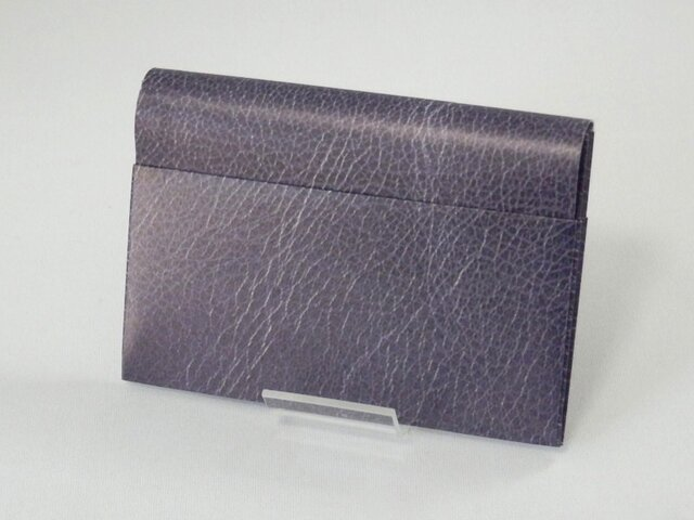 Paper Cardcase「leather(azure)」の画像1枚目