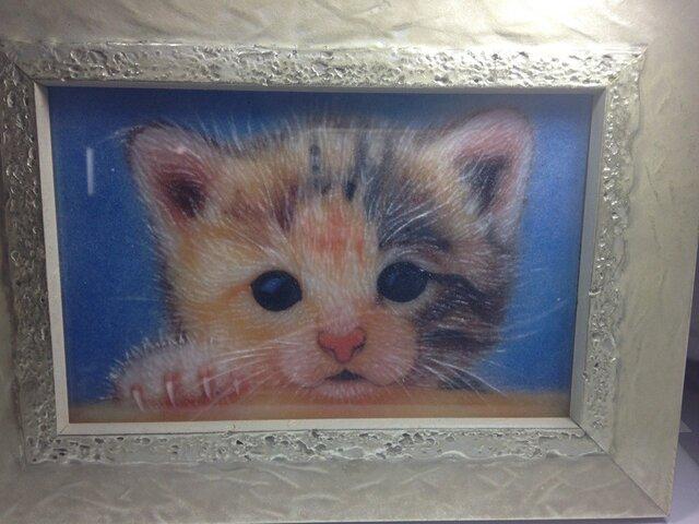 ジェムアート(宝石画)子猫の画像1枚目