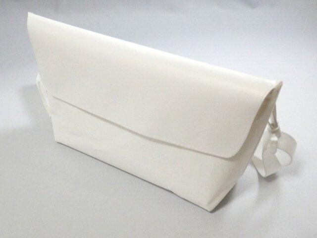 Paper Shoulderbag mini 「white」の画像1枚目