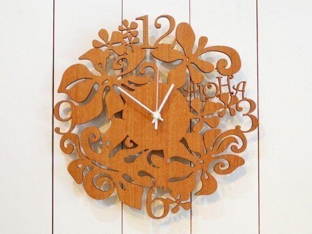 【ギフト・名入れ】ハワイアン aloha clockの画像1枚目