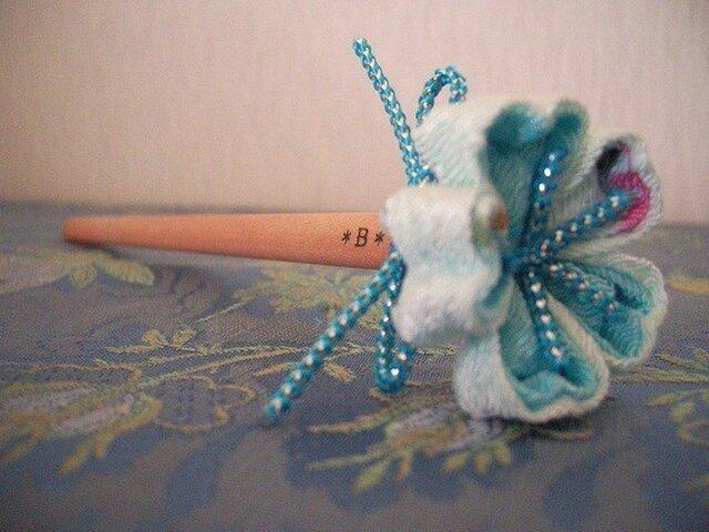 青い桜の花エンピツ(キュートブルー)の画像1枚目