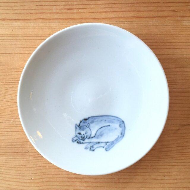 染付4寸猫皿 10の画像1枚目