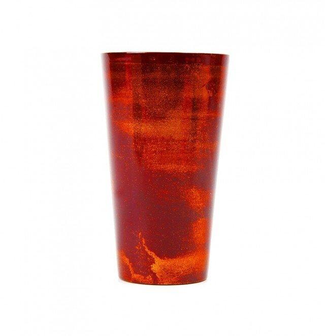 漆磨カップ M 赤(ステンレス二重構造)の画像1枚目