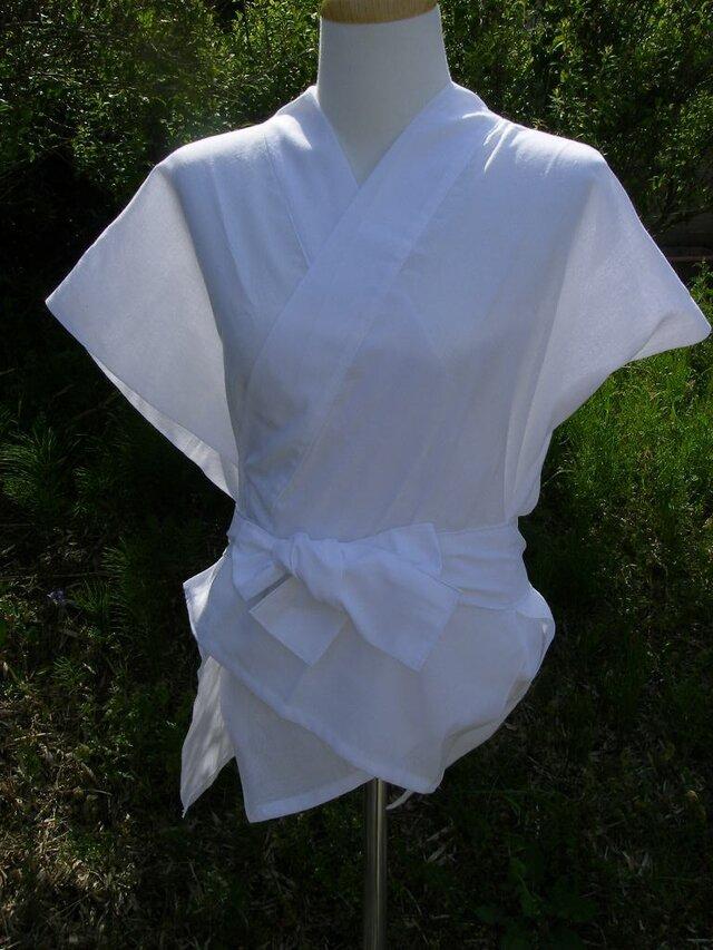晒し木綿半襦袢ベースの画像1枚目