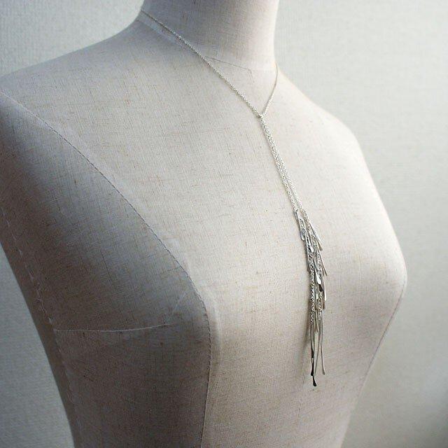 鈴なり 結い suzunari-knot/ネックレス(受注制作)の画像1枚目