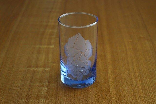 溶けない氷?グラス(ブルー)の画像1枚目