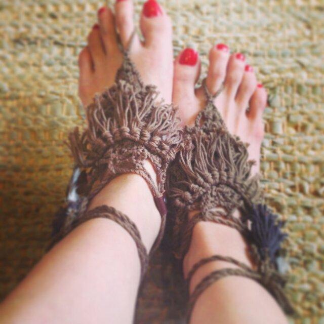barefoot sandal(kahki)の画像1枚目