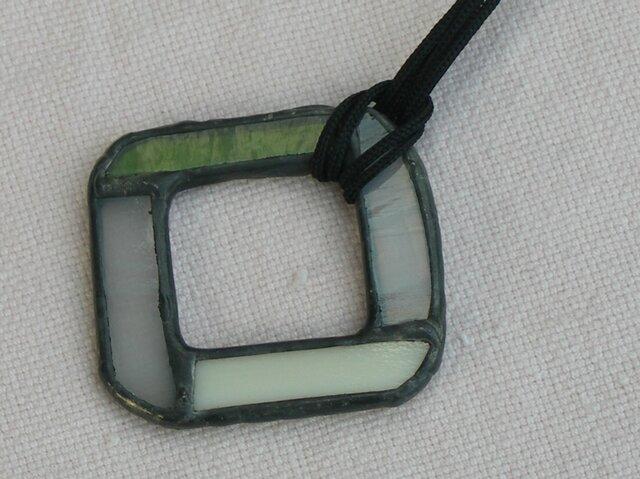 ステンドグラス ペンダント&グラスホルダー 白の画像1枚目