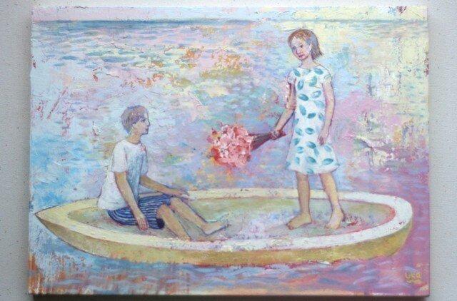 春の舟(原画)[original picture]の画像1枚目