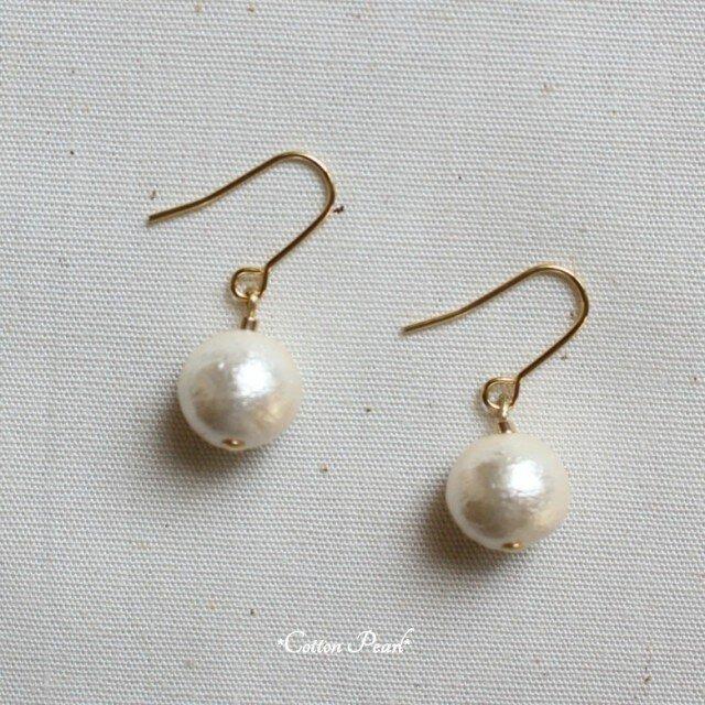 *Cotton Pearl*ピアス/イヤリングの画像1枚目