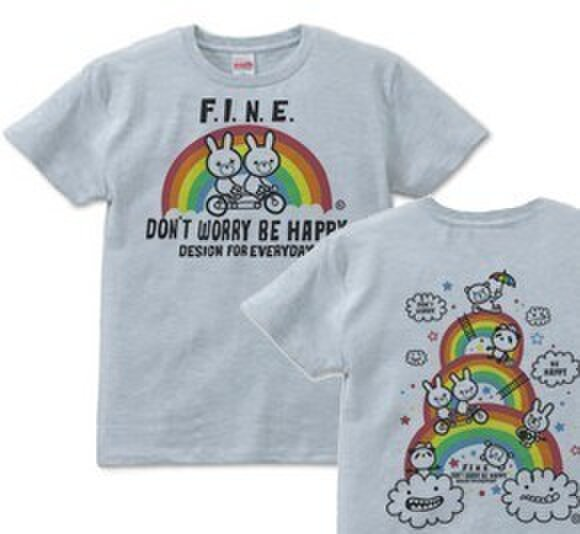虹&アニマルズ XS(女性XS~S)  Tシャツ【受注生産品】の画像1枚目