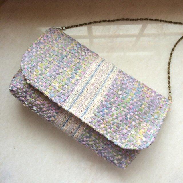 ☆手織り布のゆめ色バッグ☆の画像1枚目