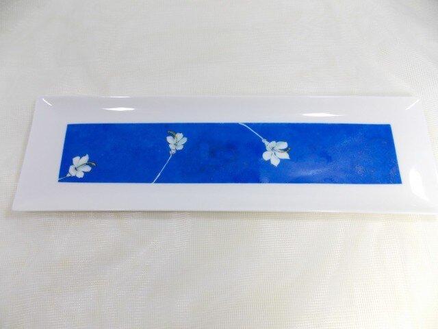 ブルー・長角皿(青の時間)の画像1枚目