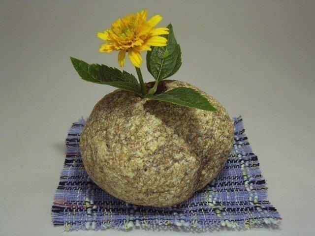 石輪挿し 自然石の花挿し K-143の画像1枚目