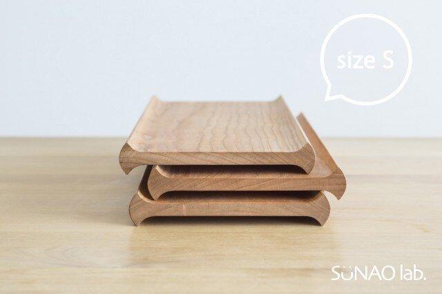 【木製トレー】カフェトレ— senro(S)◎プレート◎北欧◎シンプル◎ナチュラル◎アウトドアの画像1枚目