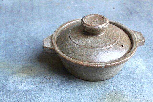 No.rs-01 緑石釉七寸鍋の画像1枚目