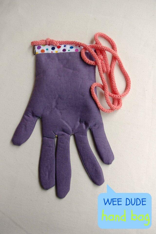 hand bag (purple)の画像1枚目