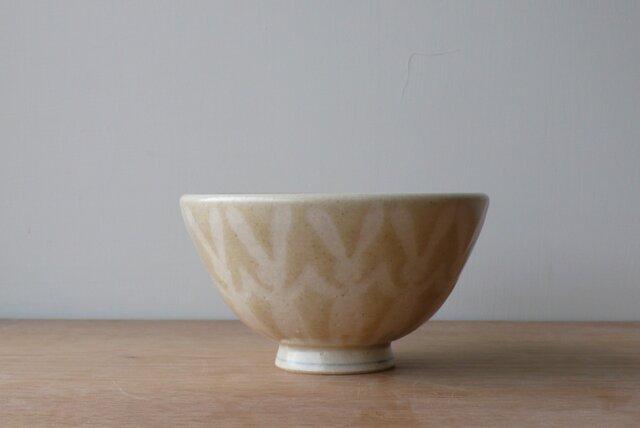 茶碗 並びうさぎ黄色の画像1枚目