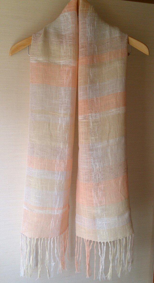 手織り・綿麻ストールの画像1枚目