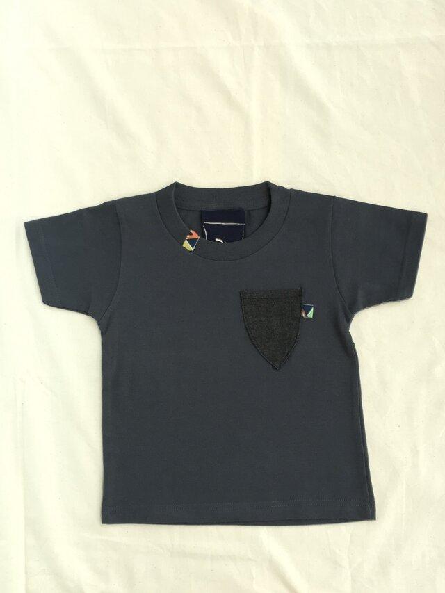 デニムポケットTシャツの画像1枚目