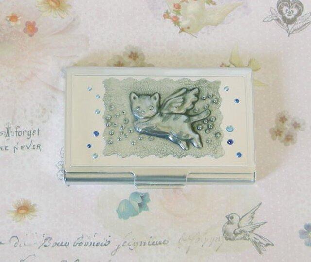名刺ケース(天使猫)の画像1枚目