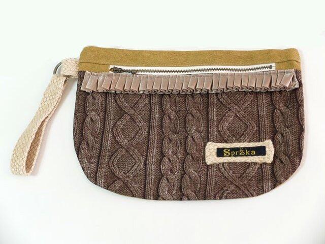 fake knit pouchの画像1枚目
