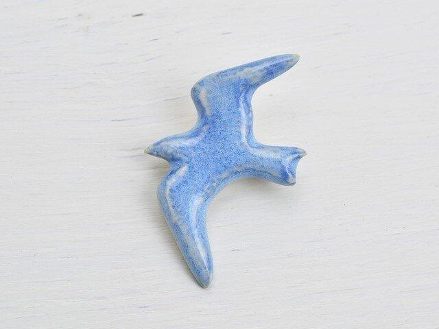 青い鳥・A /ブローチ[陶器]の画像1枚目