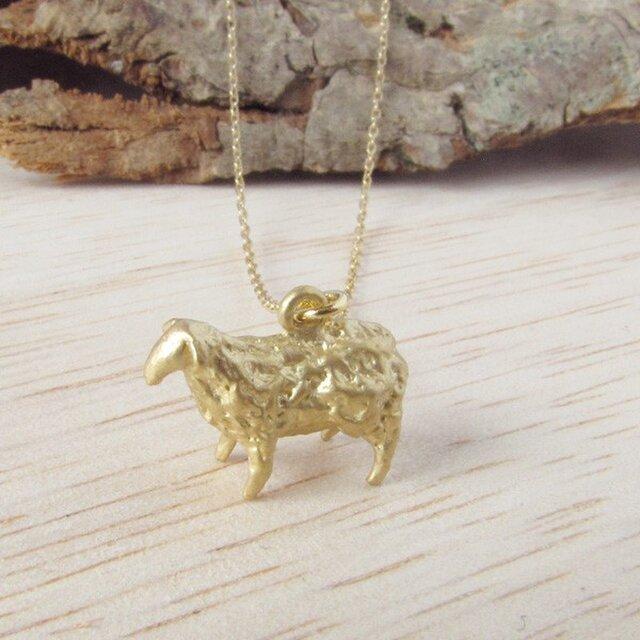 羊ネックレス(金)の画像1枚目