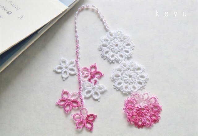 花しおり(ピンク+白)の画像1枚目