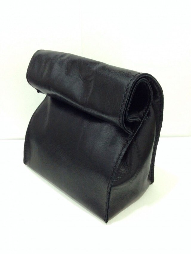 アンティーク紙袋風★バッグインバッグ【ブラック】の画像1枚目