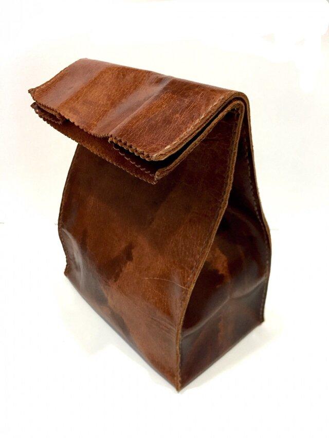 アンティーク紙袋風★インナーバッグ国産牛の画像1枚目