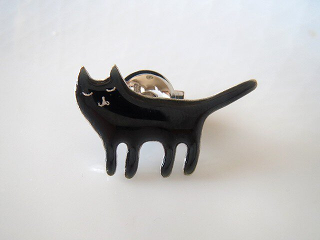 黒猫ブローチの画像1枚目
